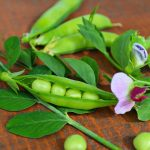 Snap Peas with Pesto and Pine Nuts –serves 4-6