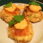Baby Crab Cakes with Sriracha/Chive Aiol