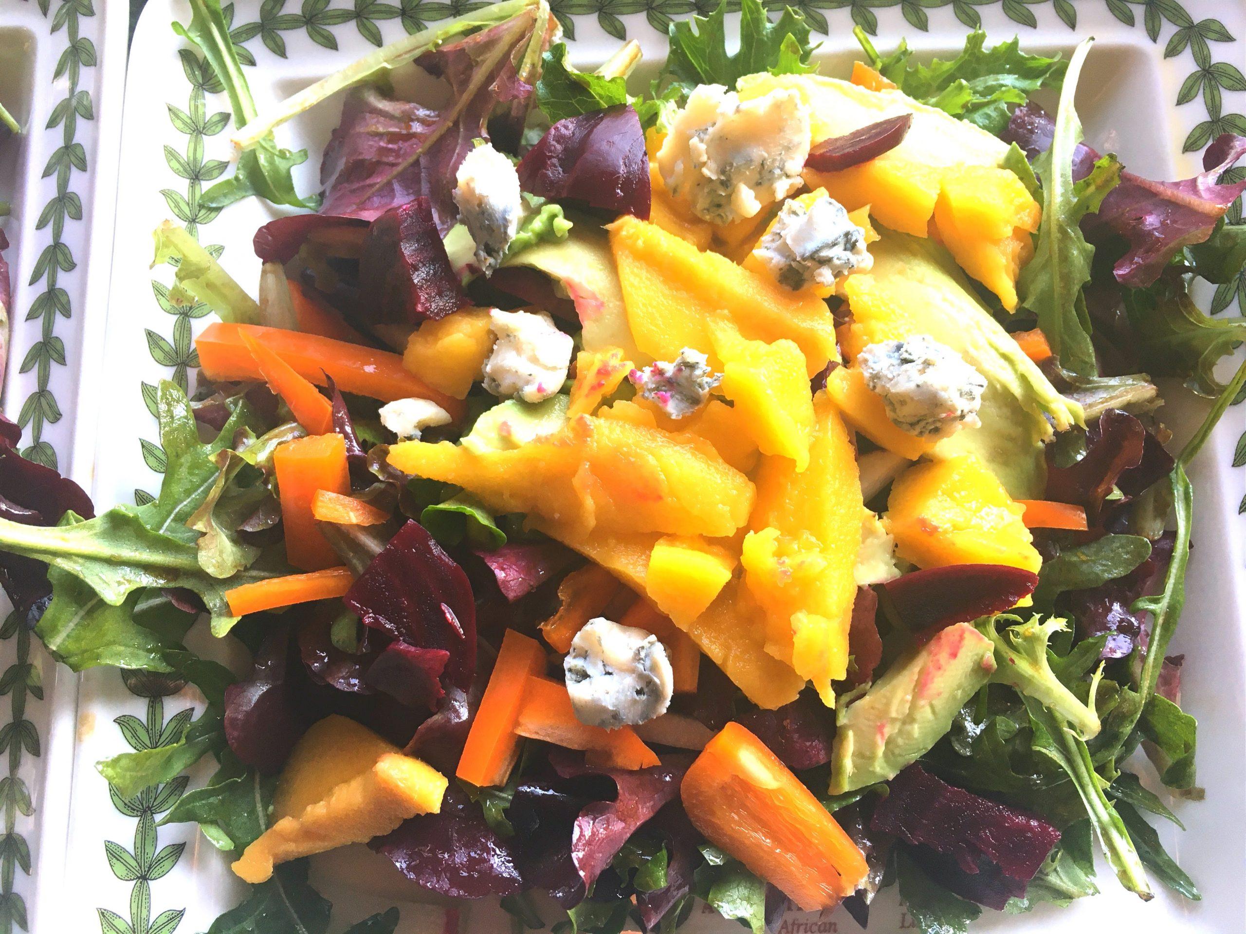 Mango, Beet, and Avocado Salad – serves 2 generously