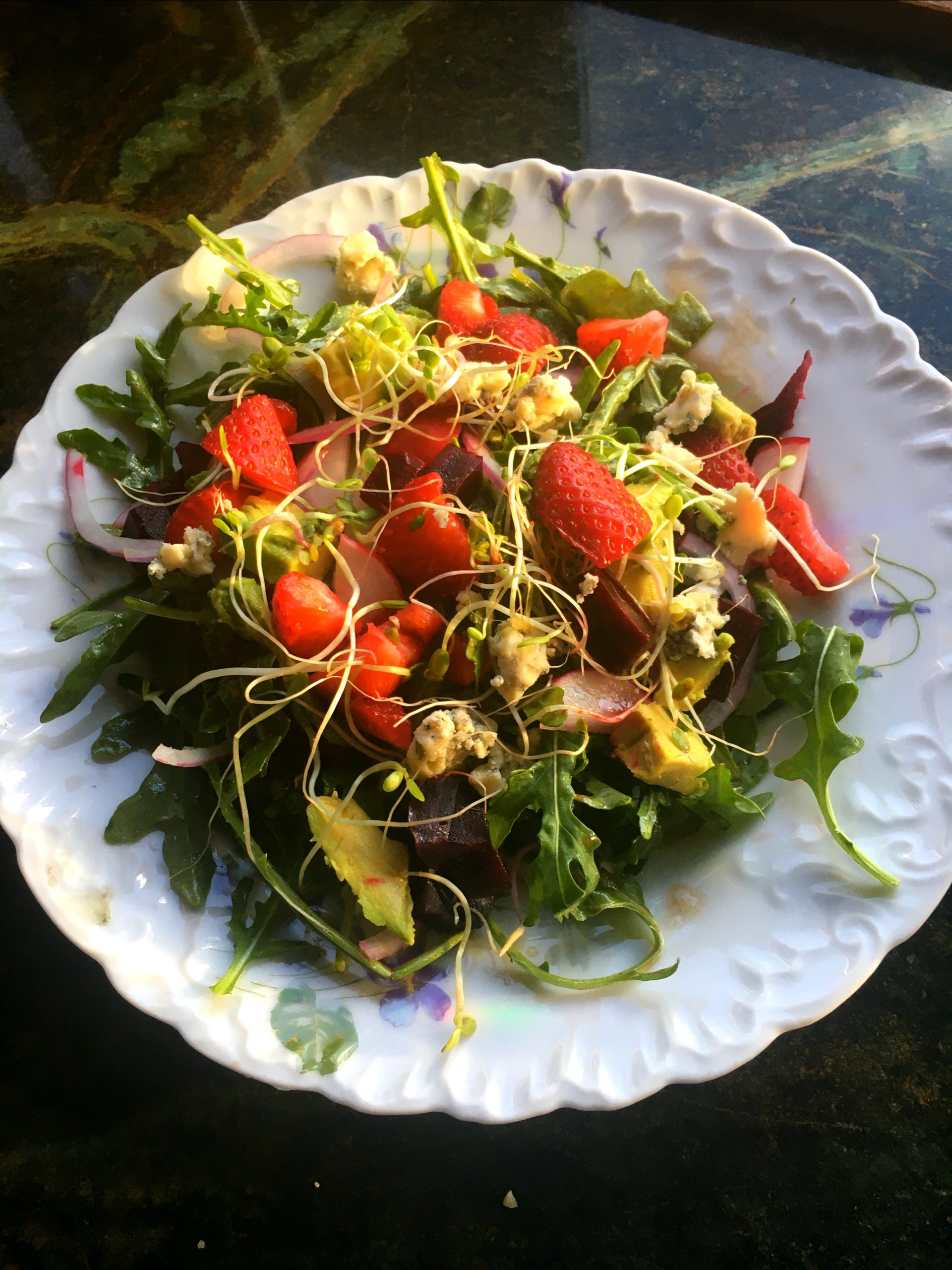 Spring Salad with Strawberries and Goat Cheese
