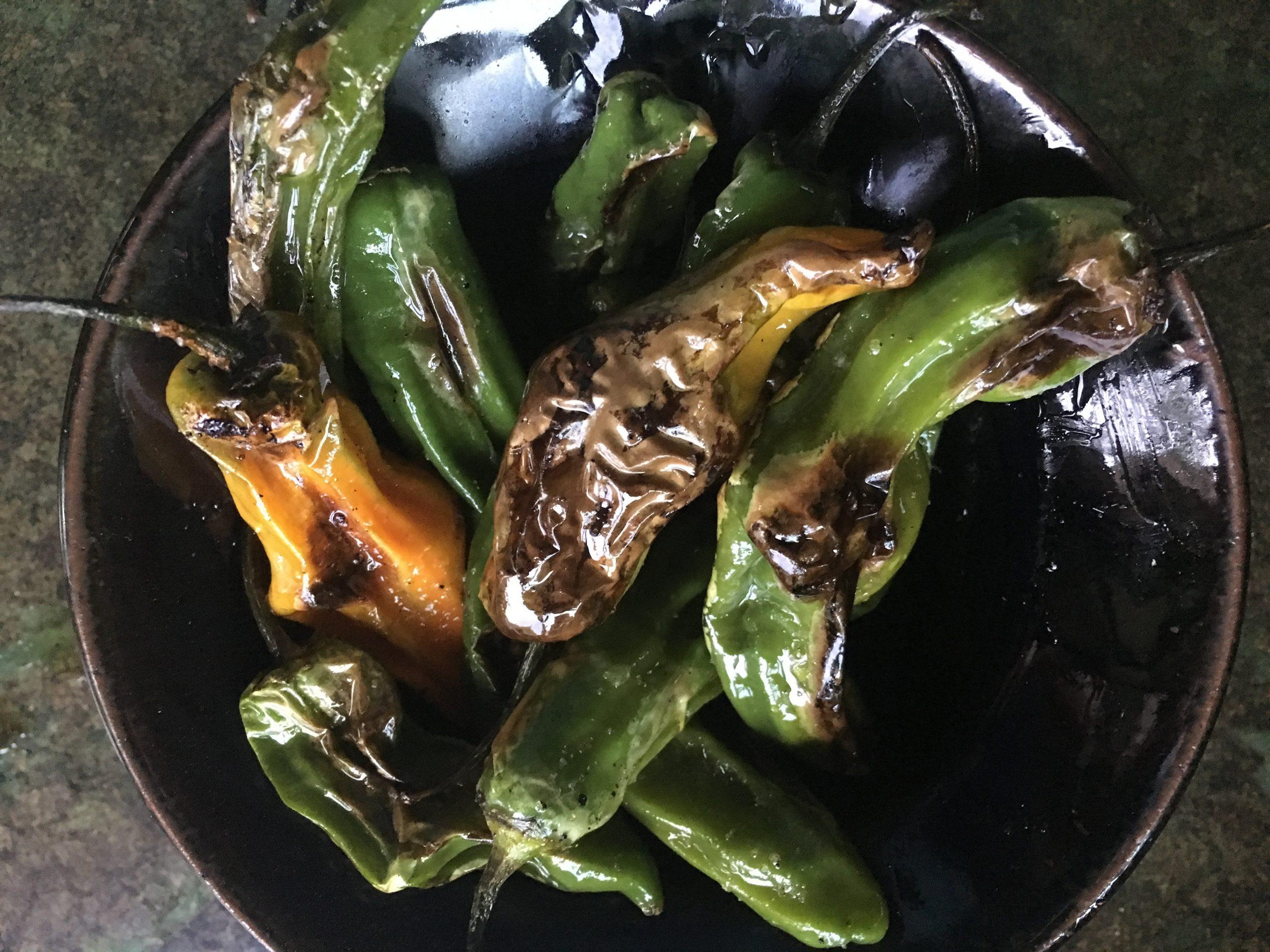 Shishito Peppers with Sriracha Mayo