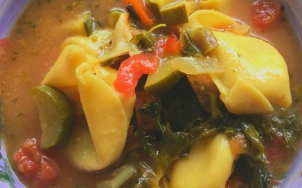 Tortellini Sausage Soup with Veggies