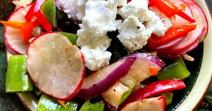 Spring Snow Pea and Radish Salad