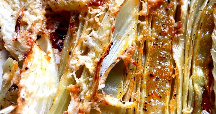 Roasted Fennel with Parmesan and Herbs